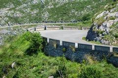 U-shape curved mountain road Stock Image