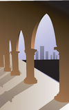 u shaped pillars Royalty Free Stock Photo