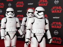 u. x27; Star Wars: Das letzte Jedi& x27; Weltpremiere Stockfoto