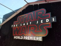 u. x27; Star Wars: Das letzte Jedi& x27; Weltpremiere Lizenzfreie Stockfotos