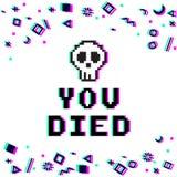 U stierf pixelglitch Royalty-vrije Stock Foto