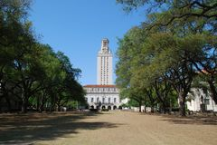 U.T. tower. The University of Texas at Austin tower is known also as the main building royalty free stock photos