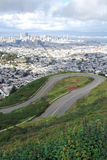 U - Turn. U Curve road climb up the Hill,Sanfrancisco Royalty Free Stock Photos