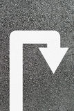 U-turn arrow Stock Images