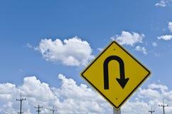 U-turn blue sky Stock Images