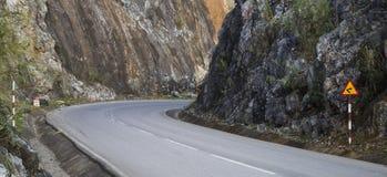 U turn on a mountain pass road Stock Photos