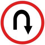 U turn sign. Arrow u turn sign board traffic Royalty Free Stock Image