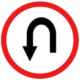 U turn sign Stock Photography