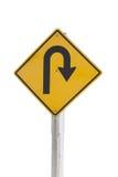 U-turn. An traffic sign whit an sing from u-turn Royalty Free Stock Photos