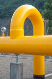 U type natural gas pipeline. Petrochinas natural gas pipeline in close-up Royalty Free Stock Photography