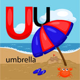 U for umbrella Royalty Free Stock Photos