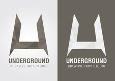 U Underground icon symbol from an alphabet letter U. Creative design Royalty Free Stock Photography