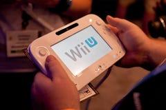 U van Nintendo Wii bij E3 2011 stock foto's