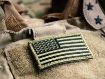 U verde S Bandera en el chaleco a prueba de balas foto de archivo libre de regalías