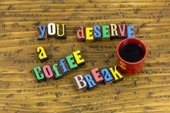U verdient koffiepauze royalty-vrije stock afbeelding