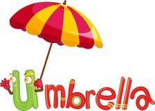 U voor paraplu stock illustratie