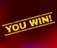U WINT! De Verbinding van de Grungezegel op Gradiëntachtergrond vector illustratie