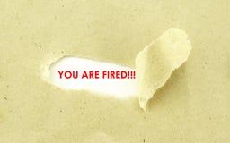 U wordt in brand gestoken Royalty-vrije Stock Fotografie