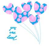 U wordt gehouden van, hand die de Dag van Valentine van letters voorzien Stock Foto's