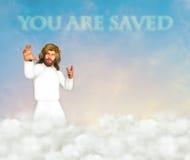 U wordt gered Jesus Christ Illustration Royalty-vrije Stock Afbeeldingen