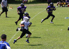 11U youth football runner Royalty Free Stock Photography