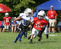 7U youth football  Stallion runner Stock Photography