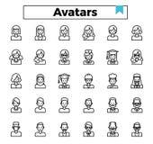 Użytkownika avatar ikony set ilustracja wektor