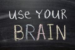 Używa twój mózg Obrazy Stock