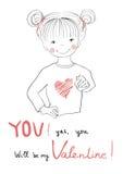 U zult mijn Valentine zijn Royalty-vrije Stock Afbeelding