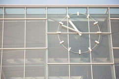 U1/U2-Wien Nord-Praterstern with clock Royalty Free Stock Photography