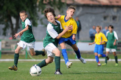 U13 soccer game Stock Photography