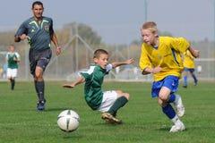 U13 soccer game Royalty Free Stock Photo