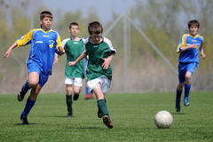 U13 soccer game Stock Images