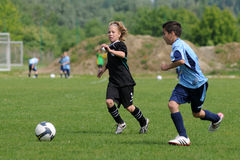 U13 soccer game Royalty Free Stock Photos