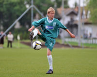 U15 soccer game Royalty Free Stock Photos