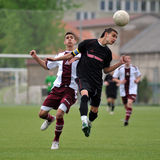 U19 soccer game Royalty Free Stock Image