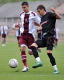 U19 soccer game Royalty Free Stock Photo