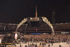 U2 360 Show in São Paulo. Stadium start to fill up while stage is being prepared for the U2 Rock Band Show in Sao Paulo, Brazil, on april 9, 2011, first of Royalty Free Stock Photos