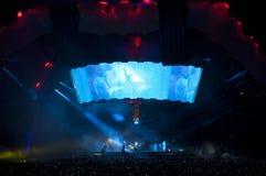 U2 360 toon in Brazilië Royalty-vrije Stock Foto's