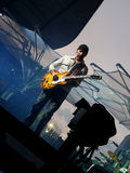 U2 360 Tour - Live in Berlin. The Edge, U2 guitar player, in the 360 Tour in Berlin Royalty Free Stock Photography