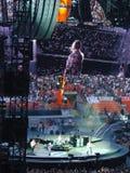U2 concert in Milan stock photography