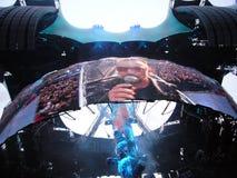 U2 levend in Berlijn 2009 Royalty-vrije Stock Foto