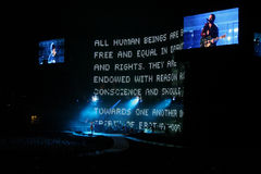 U2 music concert Stock Photos