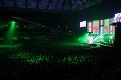 U2 music concert Stock Image