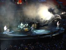 U2 overleg in Milaan Stock Foto