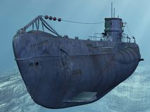 U99-German Submarine. From the Worldwar II Royalty Free Stock Image