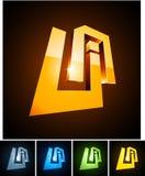 UA vibrant emblems. Stock Photo