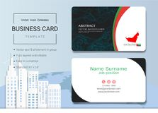 UAE Abstract business card or name card template. UAE Abstract business card or name card template, Emirates banner for Independence Day and other events Stock Image