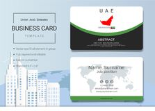UAE Abstract business card or name card template. UAE Abstract business card or name card template, Emirates banner for Independence Day and other events Royalty Free Stock Photography