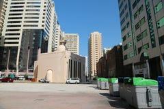 Buildings in Abu Dhabi, United Arab Emirates. UAE, ABU DHABI, FEBRUARY 4, 2016: Buildings in Abu Dhabi, United Arab Emirates stock photography